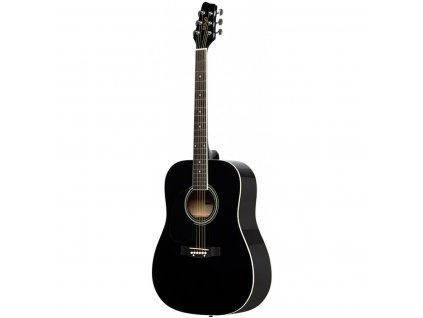 Stagg SA20D LH-BK, akustická kytara typu Dreadnought, levoruká