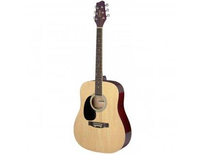 Stagg SA20D LH-N, akustická kytara typu Dreadnought, levoruká