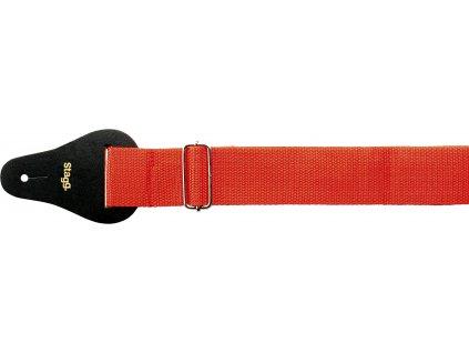 Stagg BJA006RD, kytarový popruh, červený