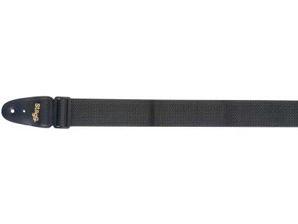 Stagg BJA006BK, kytarový popruh, černý