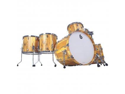 "BDC Legend SE Spalted Beech Bass Drum 22x16"""