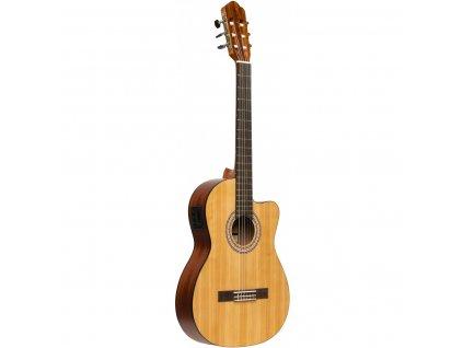 Stagg SCL70 TCE-NAT, elektroakustická klasická kytara 4/4, přírodní