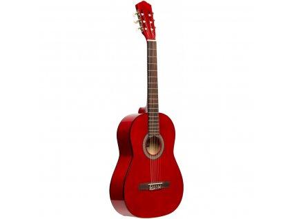 Stagg SCL50-RED, klasická kytara 4/4, červená