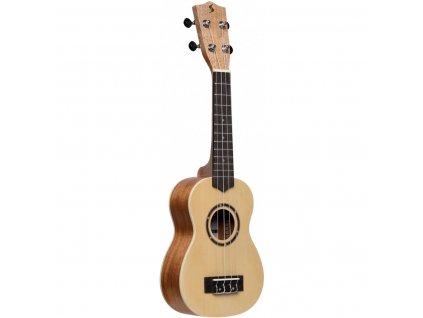 Stagg US-30 SPRUCE, sopránové ukulele s pouzdrem