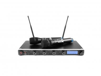 Omnitronic UHF-304, 4-kanálový bezdrátový mikrofonní set 823-832/863-865 MHz