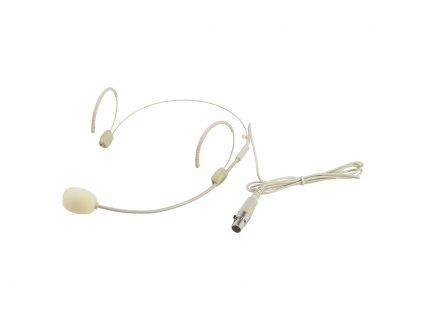 Omnitronic UHF-300 náhlavní mikrofon, světlý