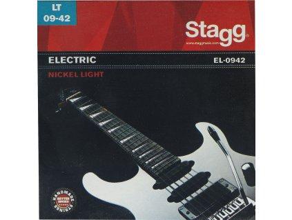 Stagg EL-0942, sada strun pro elektrickou kytaru, light