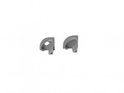Eurolite plastové koncovky pro hliníkový rohový profil, stříbrné