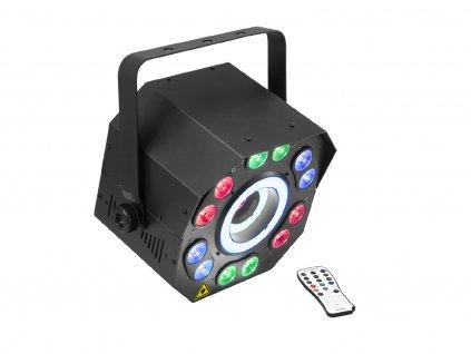 Eurolite LED FE-2500, 3-in-1 LED efekt s UV washlight, hypnorings a laserem
