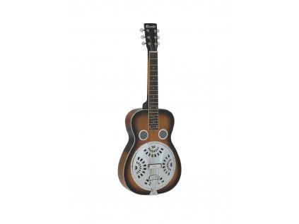 Dimavery RS-600, rezofonická kytara s hranatým krkem
