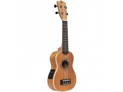 Stagg US-30 E, elektroakustické sopránové ukulele s pouzdrem
