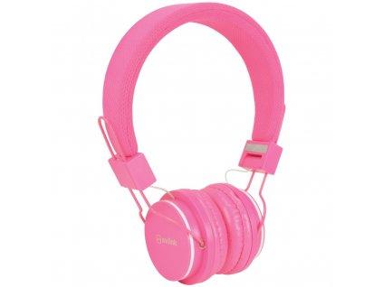 AV:link CH850-PNK, dětská sluchátka s mikrofonem, růžová