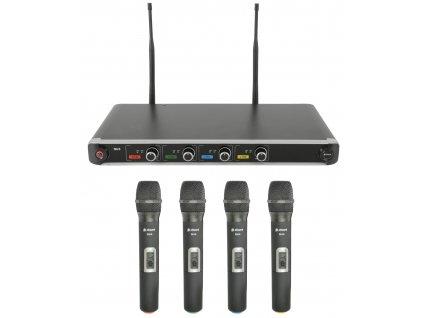 Chord NU4 4-kanálová UHF mikrofonní sada ručních mikrofonů