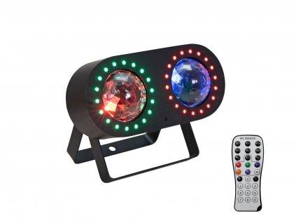 EUROLITE LED DMF-3 Hybrid, paprskový efekt s RGBA storobskopem