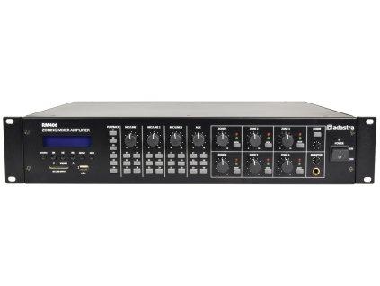 Adastra RM406, mixážní 6-zónový 100V zesilovač, 6x 40W, BT/MP3/FM