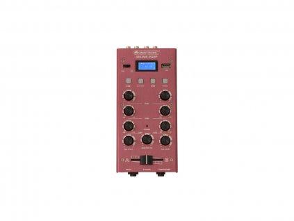 OMNITRONIC GNOME-202P, 2-kanálový, USB, MP3, Bluetooth, červený