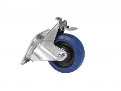 ROADINGER Otočné kolečko 100 mm, s brzdou, modré
