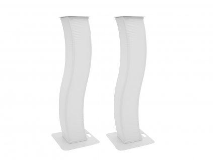 Eurolite 2x zakřivený pódiový stojan 150 cm vč. potahů a tašek