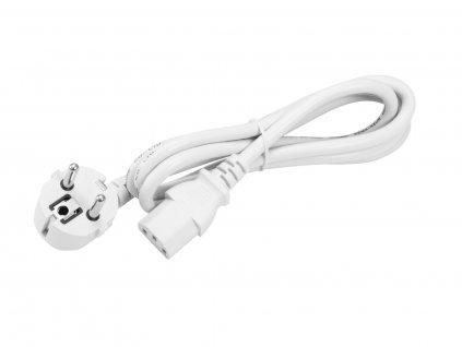 Omnitronic IEC C13 napájecí kabel, 1,2 m, bílý