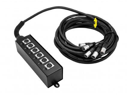 Omnitronic MUS-610, multicore kabel se stageboxem, 6IN XLR, 10 m