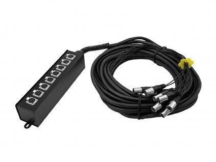 Omnitronic MUS-820, multicore kabel se stageboxem, 8IN XLR, 20 m