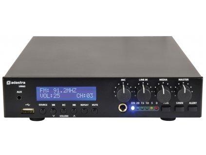 Adastra UM60, mixážní 100V zesilovač, 60W, BT/MP3/FM