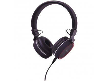 AV:Link PH10-BLK Multimediální sluchátka s vestavěným mikrofonem
