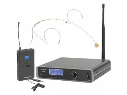 Citronic RU105-N, UHF bezdrátový mikrofonní systém, hlavový/klopový mikrofon