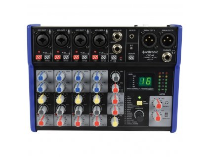 Citronic CSD-6 Kompaktní mixážní pult s Bluetooth a DSP