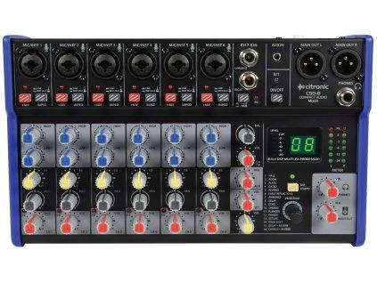 Citronic CSD-8 Kompaktní mixážní pult s Bluetooth a DSP