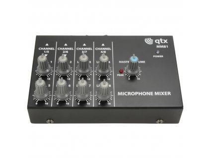 QTX MM81 Kompaktní mikrofonní směšovač, 8 vstupů