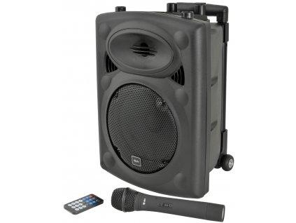 "QTX QR8PABT, mobilní 8"" zvukový systém MP3/SD/USB/BT/VHF, 50W"