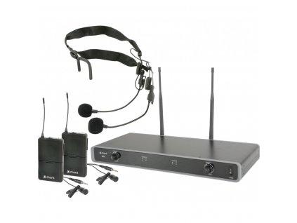Chord NU2-N duální UHF hlavový bezdrátový mikrofonní systém, 863.8 + 864.8 MHz