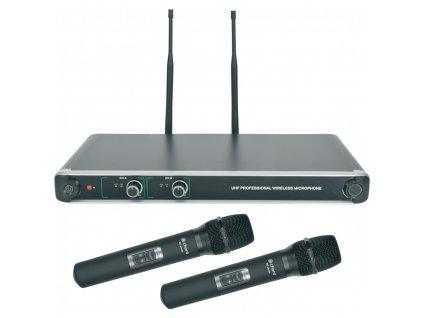 Chord NU20-H duální UHF ruční bezdrátový mikrofonní systém, 863.8MHz + 864.8 MHz