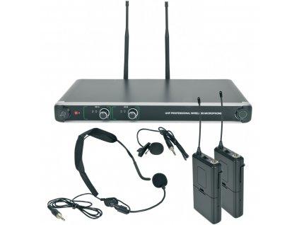 Chord NU20-N duální UHF hlavový bezdrátový mikrofonní systém, 863.8MHz + 864.8 MHz