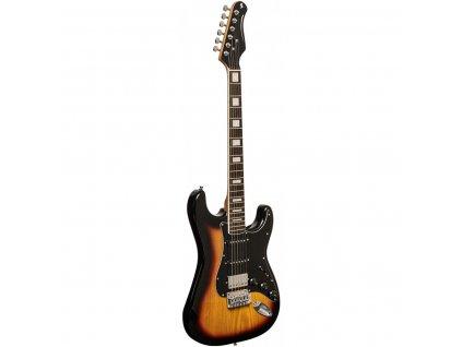 Stagg SES-60 SNB, elektrická kytara, sunburst