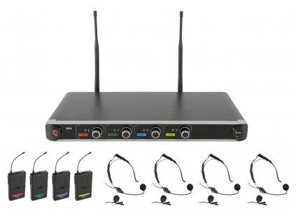 Chord NU4-N hlavový UHF bezdrátový mikrofonní systém, 864.8+864.3+864.42+863.1