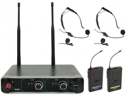 Chord NU2-N duální UHF hlavový bezdrátový mikrofonní systém, 864.8+863.1 MHz