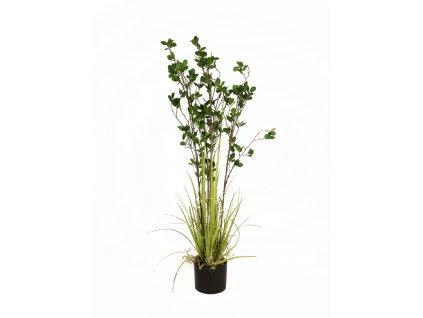 Zelený keř s trávou, 120 cm