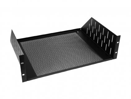 Racková polička 3U s ventilačními otvory, černá