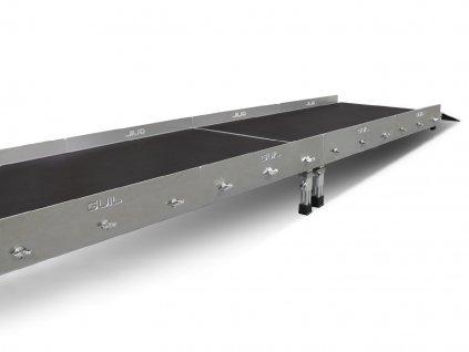 Guil BTA-01 Nízké hliníkové zábradlí na pódiové desky