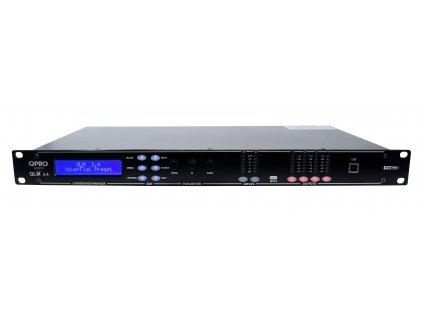 QPro QLM 2.4, digitální systém pro správu reproduktorů, 2 IN / 4 OUT