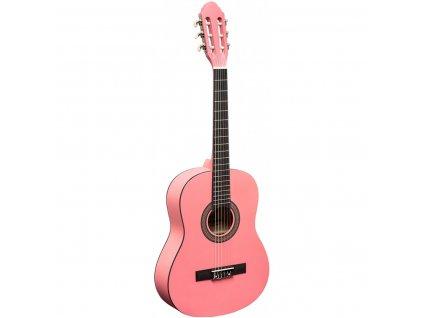Stagg C430 M PK, klasická kytara 3/4, růžová