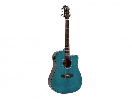 Dimavery STW-90, elektroakustická kytara typu Dreadnought, modrá