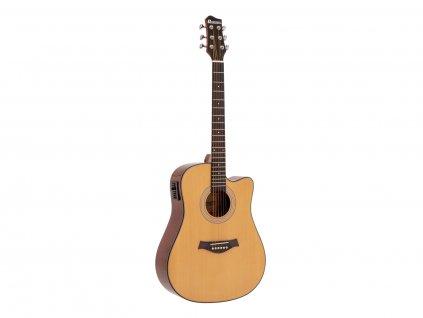 Dimavery STW-90, elektroakustická kytara typu Dreadnought, přírodní