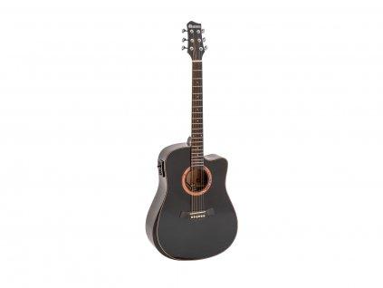 Dimavery ASW-60, elektroakustická kytara typu Dreadnought, černá