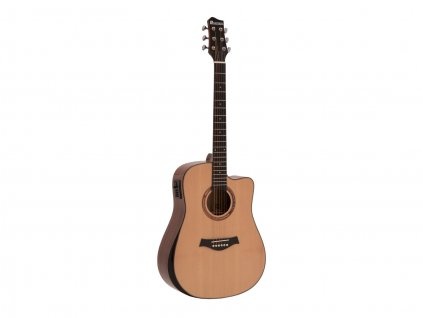 Dimavery ASW-60, elektroakustická kytara typu Dreadnought, přírodní