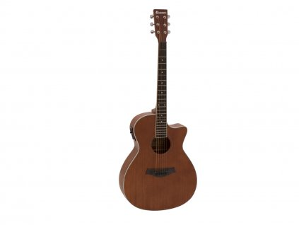 Dimavery AW-410, elektroakustická kytara typu Grand Auditorium, přírodní