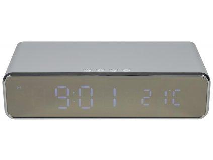 AV:Link Recharge Digitální budík s bezdrátovou nabíječkou, bílý