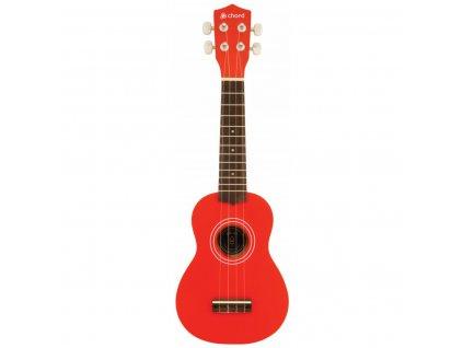 Chord sopránové ukulele s pouzdrem, červené